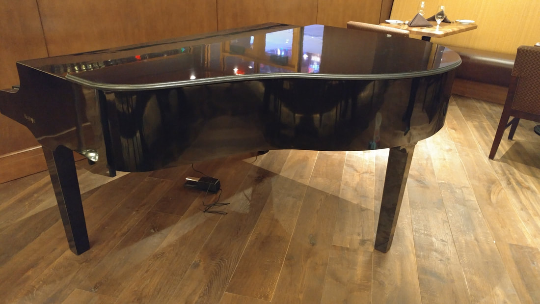 60 inch mobile black stage piano