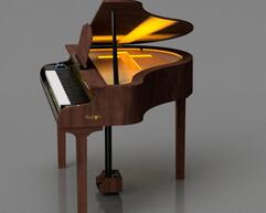 mahogany piano for church