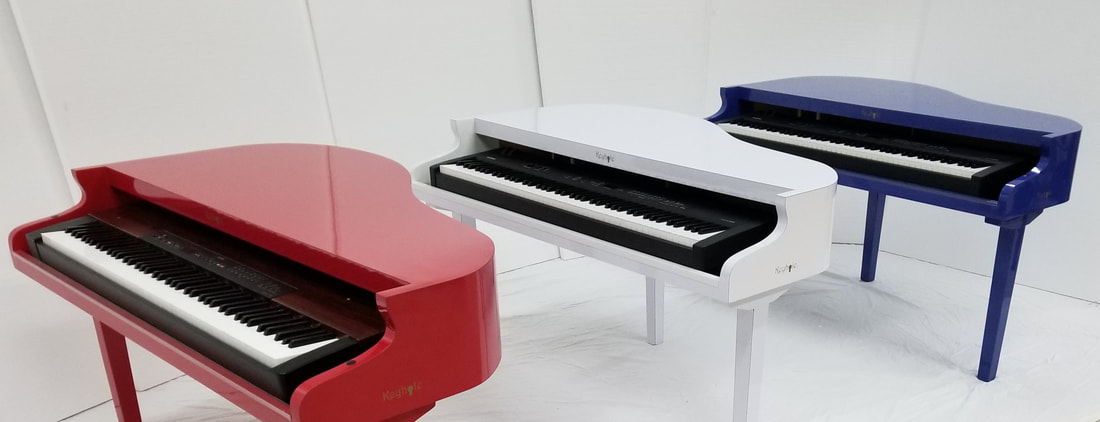 red white and blue pianos
